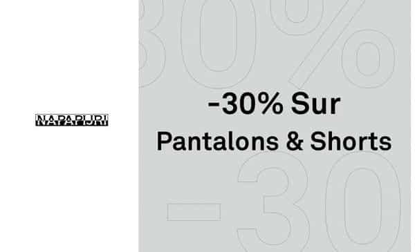 30% De Remise Sur Tous Les Pantalons, Shorts Et Bermuda Napapijri