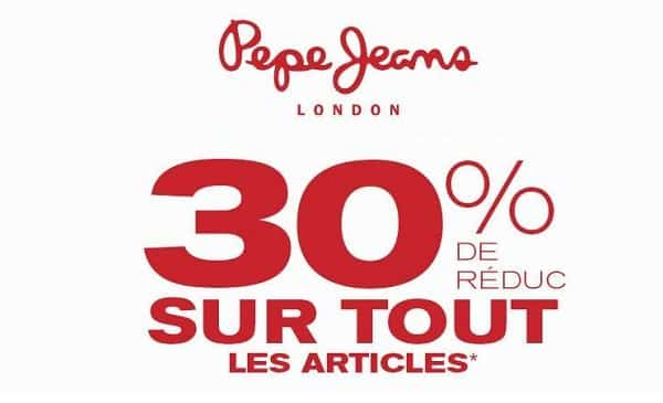 30% De Remise Sur Tout Pepe Jeans
