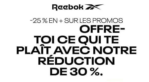 30% Sur Les Articles Non Remisés Et 25% Sur Les Articles En Promo Du Site Reebok