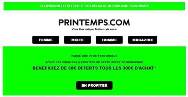 30€ De Remise Immédiate Sur Le Printemps Tous Les 300€ D'achat