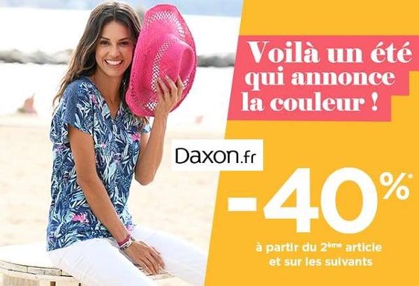 40% De Reduction Sur Votre Commande à Partir Du Second Article Sur Daxon