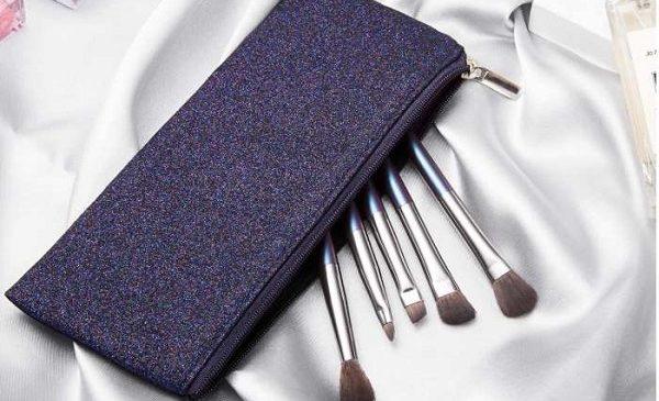 5 Pinceaux De Maquillage + Trousse Ceitura