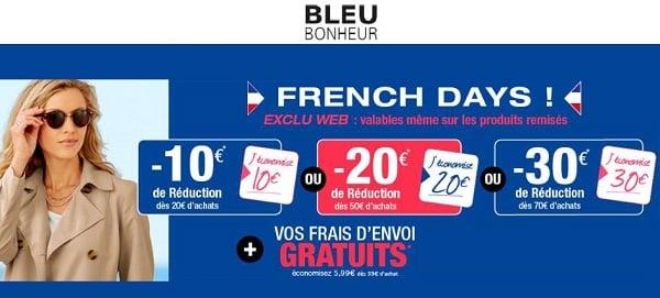 French Days Bleu Bonheur 10€ Remise Dès 20€
