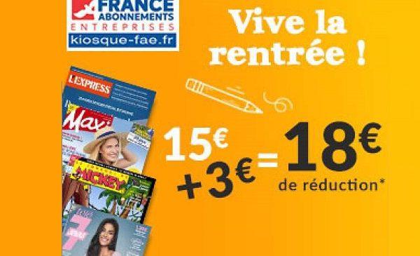 Lisez Vos Magazines Pour Pas Cher Grâce à Une Remise De 18€ Sur Des Dizaines D'abonnements Magazines Sans Minimum