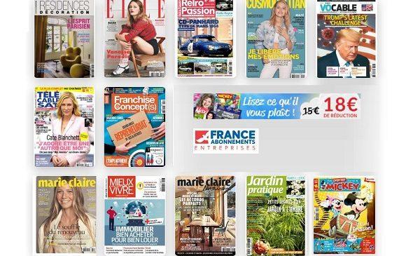 Lisez Vos Magazines Pour Pas Cher Grâce à Une Remise De 18€ Sur Des Dizaines D'abonnements Magazines Sans Minimum D'achat