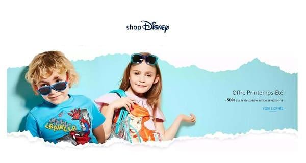 Offre Printemps été Shop Disney 1 Acheté = 50% Sur Le Deuxième Article
