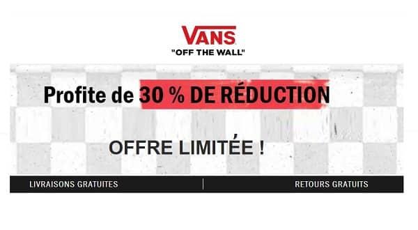 Offre Spéciale Vans 30% De Réduction Sur Une Sélection (chaussures, Vêtements, Sacs Et Autres) Et Livraison Gratuite