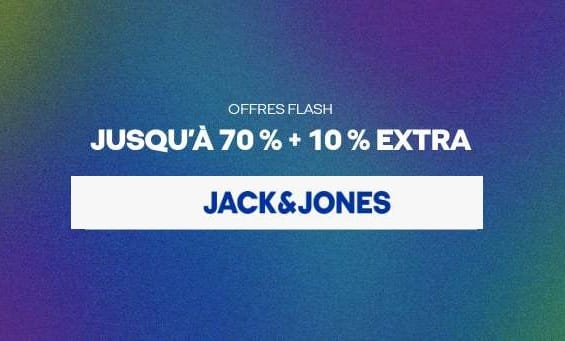 Offre Flash Jack & Jones 10% De Remise En Plus Sur Les Promotions