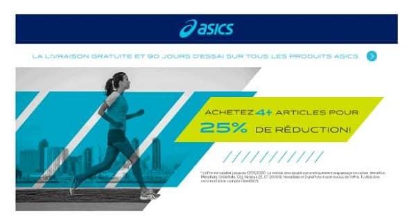 Offre Spéciale Asics 2 Articles = 15%, 3 Articles = 20%, 4 Articles Et Plus = 25%