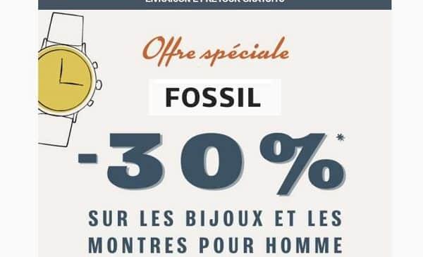 offre spéciale fossil pour homme