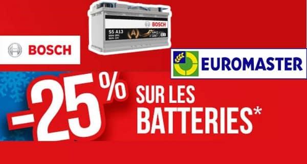 Opération Batterie Auto Bosch 25% De Remise Immédiate Sur Euromaster