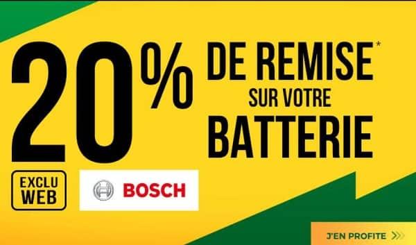 Opération Batterie Auto Bosch 20% De Remise Immédiate Sur Euromaster