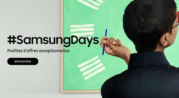 #samsungdays Offres Spéciales Et Remises Sur Les Smartphones Et Tablettes