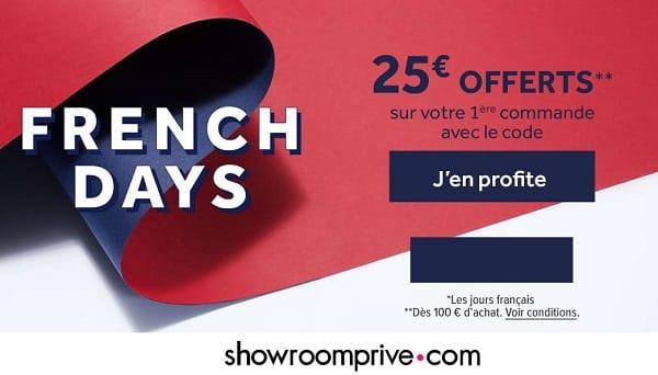Si Ce N'est Pas Fait Profitez Des French Days Showroomprivé Pour Vous Inscrire Car 25€ Offerts Dès 100€