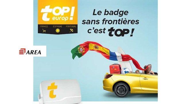 5 Badge Telepeage Topeurop Area France Espagne Et Portugal Au Lieu De 15