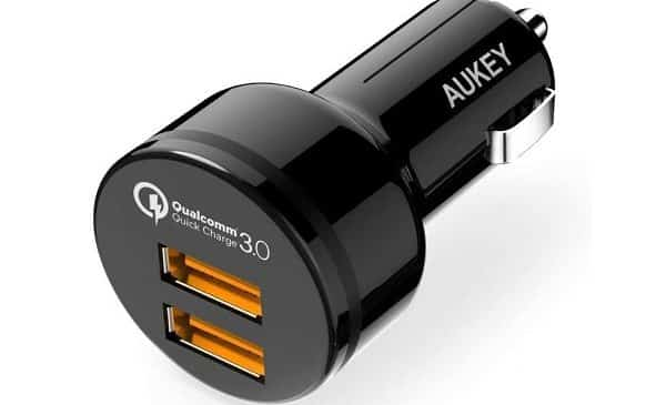 Double Chargeur Usb Quick Charge 3.0 Allume Cigare Aukey Cc T8