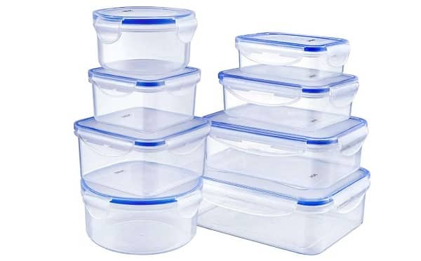 Lot De 8 Boites De Conservation Plastique Avec Couvercle Deik