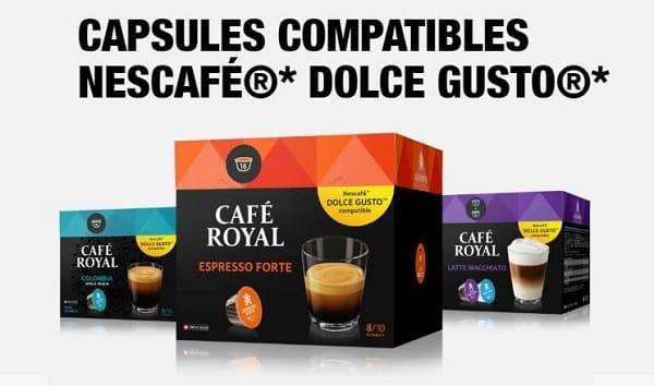 Remise Sur Les Capsules Dolce Gusto De Café Royal