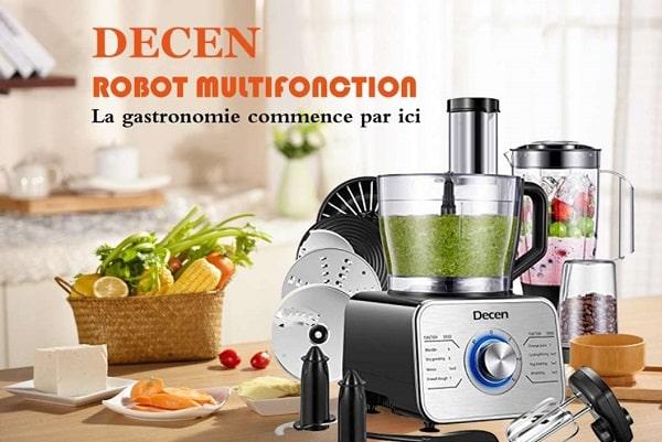 Robot De Cuisine Multifonction Acier Decen 1100w