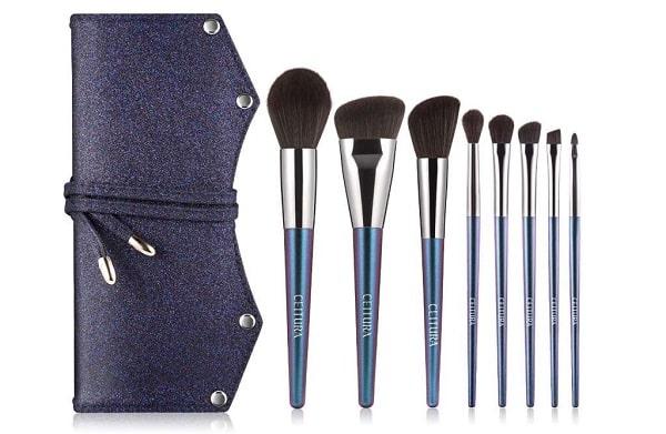 Set De Pinceaux De Maquillage Ceitura 8 Pièces + Trousse De Rangement