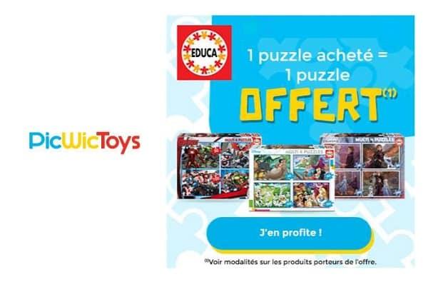 1 Puzzle Educa Acheté = Le Second Gratuit Sur Picwictoys