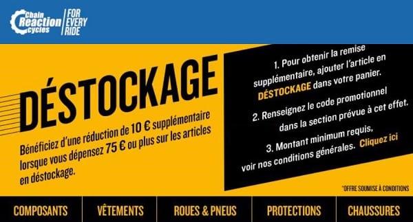 10€ De Remise En Plus Sur Tout Le Déstockage Chain Reaction Cycles
