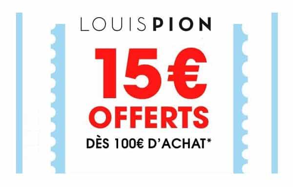 15€ De Remise Sur Votre Commande Louis Pion
