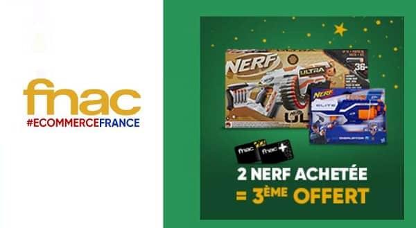 2 Nerf Achetés Le 3ème Offert Sur La Fnac