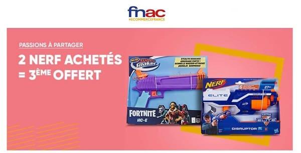 2 Nerf Achetés = Le 3ème Offert Sur La Fnac