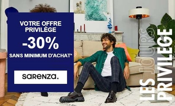 30% Sur (presque) Tout Le Site Sarenza Sans Minimum D'achat