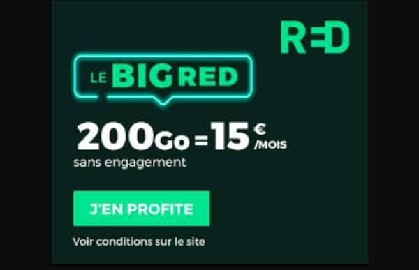 Alerte Bon Plan Forfait Big Red Sfr 200go
