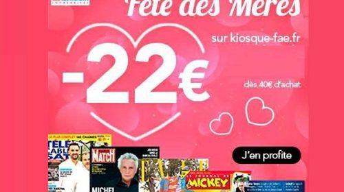 bon plan cadeau fête de mères abonnement magazine pas cher grâce à 22€ de remise