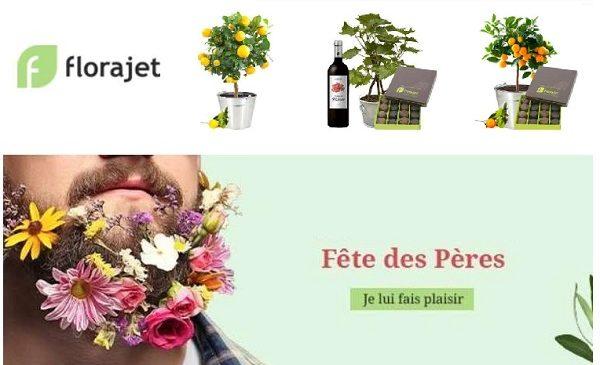 Fête Des Peres 10% De Remise Sur Florajet
