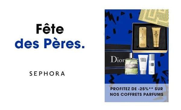Fête Des Pères Sephora 25% Sur Tous Les Coffrets Parfums Homme