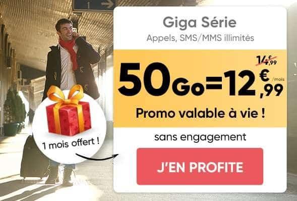 Forfait Giga Série Prixtel 50go