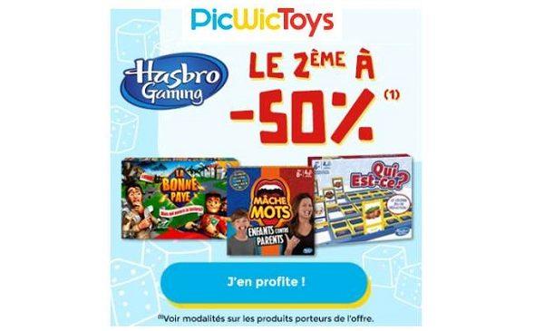 Offre Picwictoys Hasbro Gaming Le 2ème Jeux à 50%