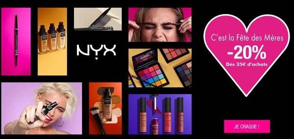 Offre Fêtes Des Mères Sur Nyx Cosmetics