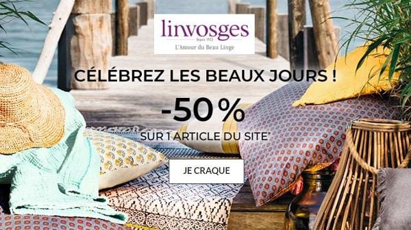 Offres Linge Maison, Linge De Lit, Linge Bain Linvosges 50% Sur Un Article Au Choix