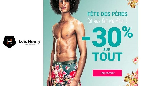 Pour La Fête Des Pères Loïc Henry Offre 30% De Remise Sur Tout (sous Vêtements Masculin)
