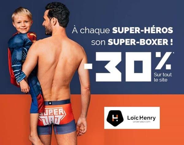 Pour la fête des pères Loïc Henry offre 30% de remise sur tout