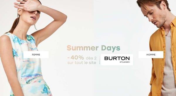 Summer Days Burton 40% De Remise Sur Votre Commande Dés 2 Articles Achetés