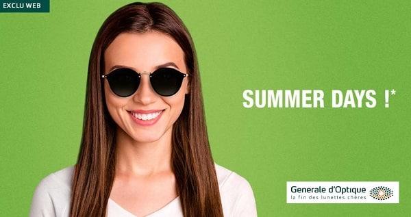 Summer Days Générale D'optique Jusqu'à 50% Sur Les Lunettes De Soleil