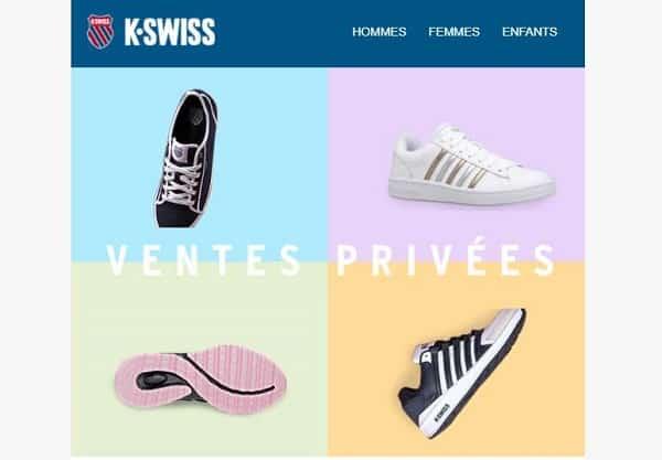Vente Privée K-Swiss