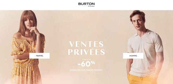 Vente Privée Burton Of London