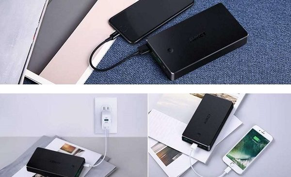 Batterie Externe 2 Ports Usb 20000mah Aukey Pb N36