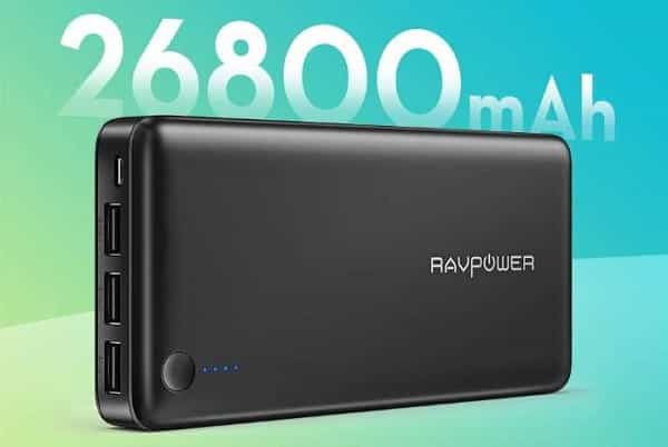 Batterie Externe 26800mah 3 Ports Usb Ravpower Rp Pb41