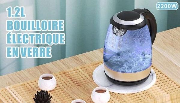 bouilloire électrique en verre sans fil cocoda