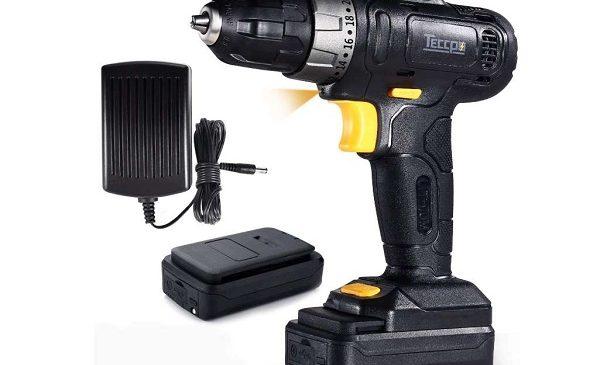 Coffret Perceuse Visseuse Compacte Sans Fil Teccpo Tdcd02p 12v + 2 Batteries + 27 Accessoires