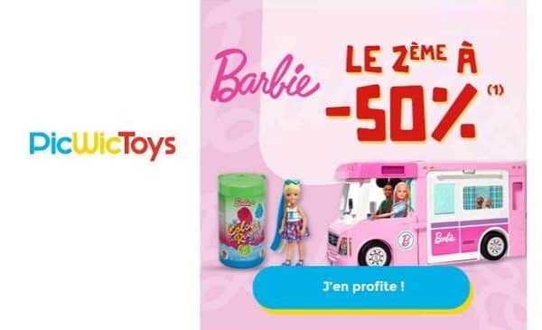 Le Second à Moitié Prix Sur L'univers Barbie Picwictoys