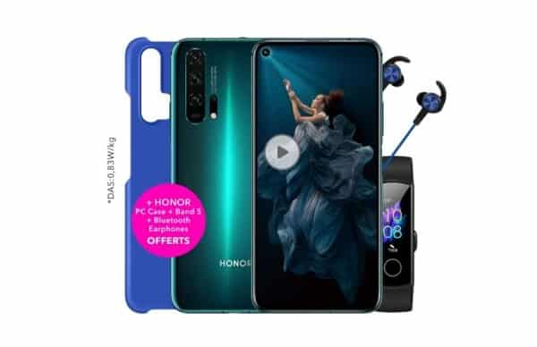 Smartphone Honor 20 Pro (8go+256go) Bracelet Connecté Honor Band 5 écouteur Bluetooth Coque